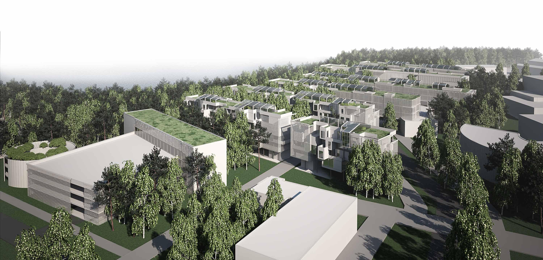 render-europan13-espoo-finland-progetto-urbano-contest-student-campus-sostenibilità-serre