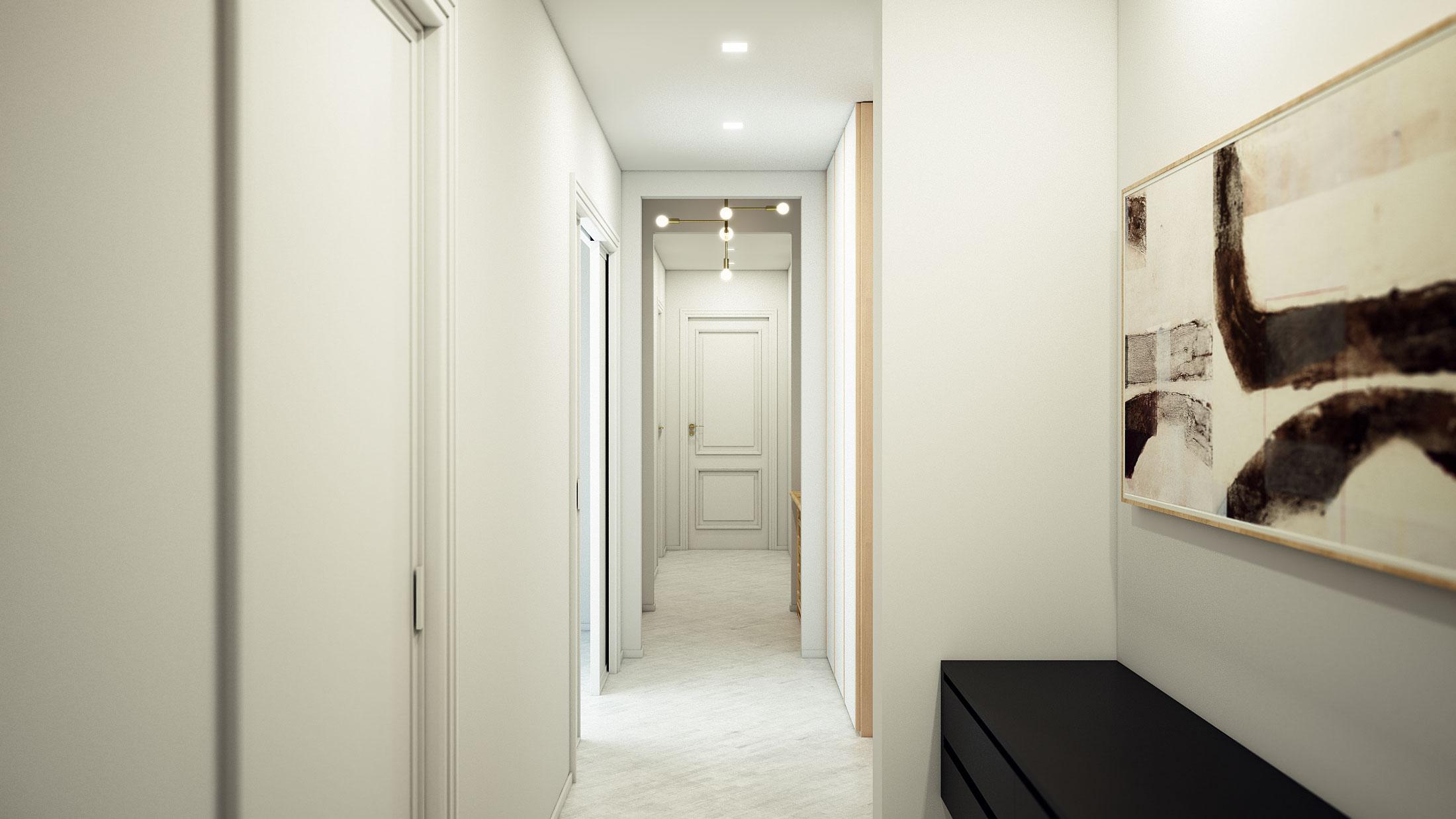 render-appartamento-brescia-corridoio-bianco-white-corridor