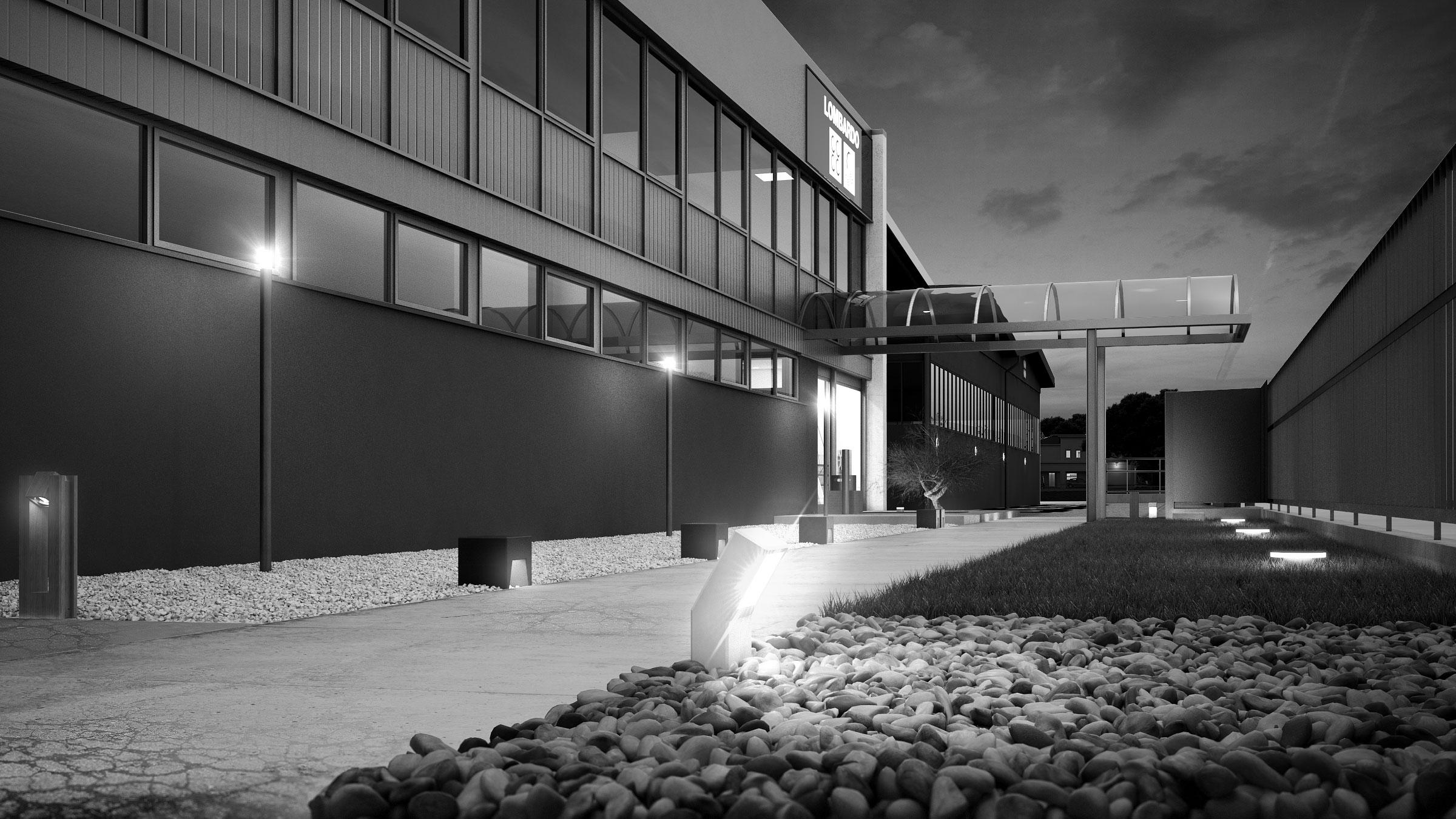 render-lombardo-progetto-luce-illuminazione-esterno-notte-bianco-nero