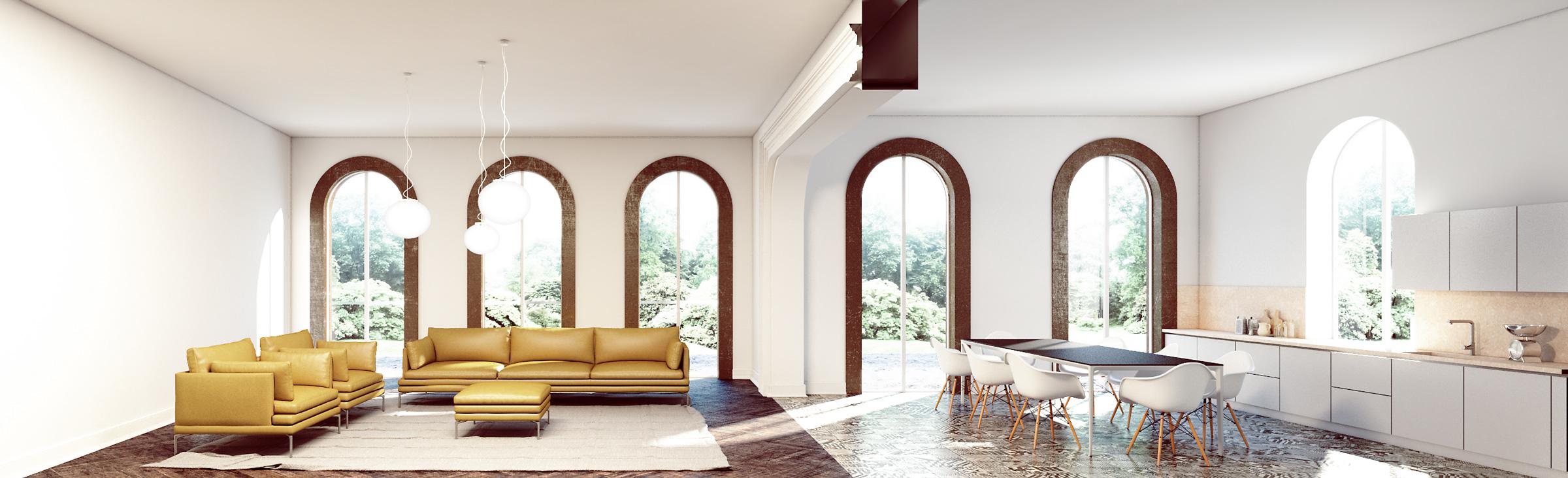 render-residence-sirmione-lago-livingroom-white-light-bright-parquet-cucina-kitchen